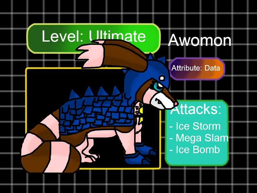 Digidex meme: Awomon by Phewmonster