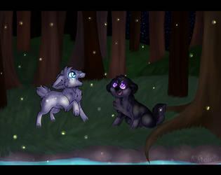 Fireflies by tinttiyo