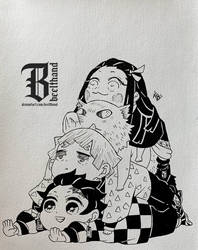 Kimetsu no Chibi by Beelthand