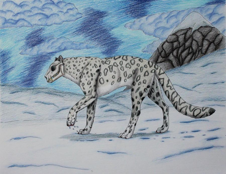 Schoolwork- Skullsnowleopard by Narncolie