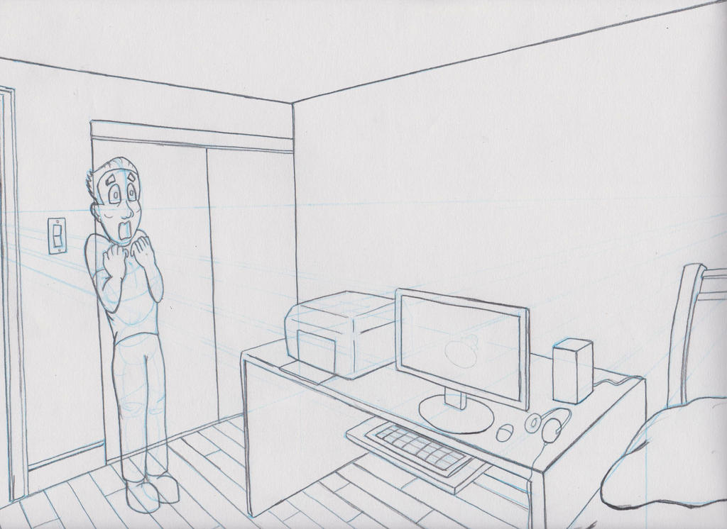 Line Drawing Room : Room line drawing by astral art on deviantart