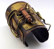 Steampunk cuff/bracer by Lostwaxoz