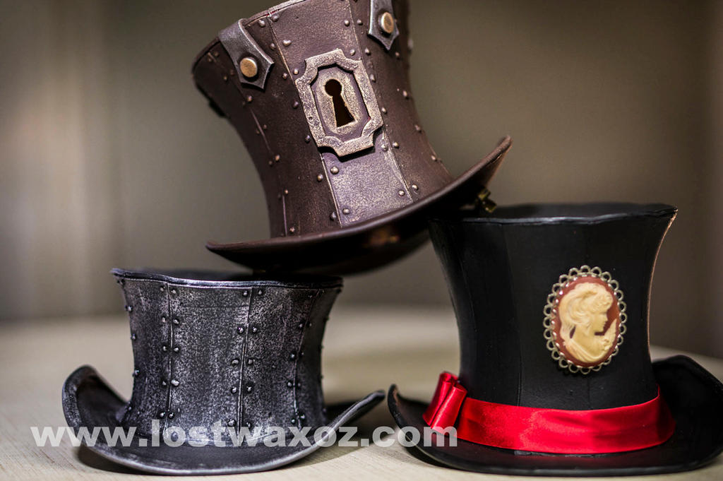 Steampunk Mini Top Hat Pattern by Lostwaxoz