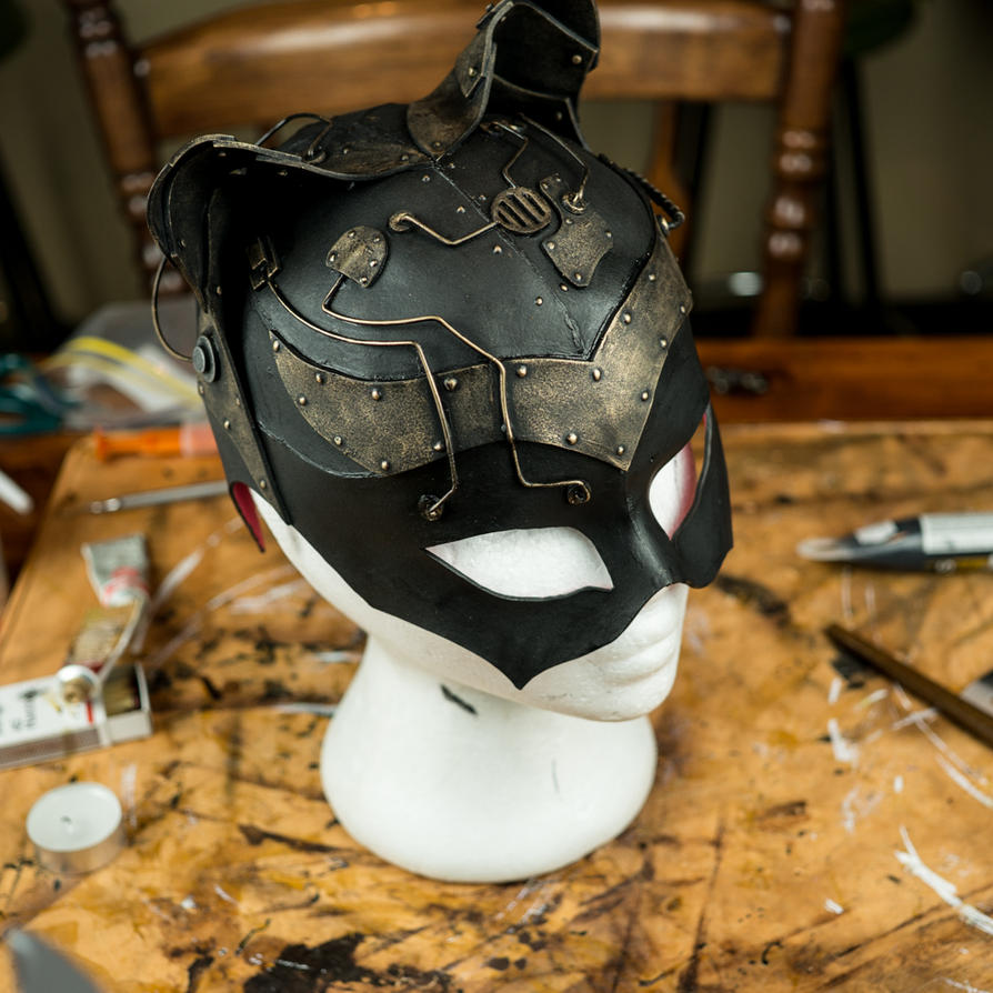 Steampunk Catwoman Mask by Lostwaxoz