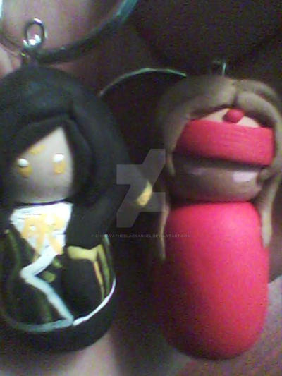 Mahina and Asato keychains by ChihayatheBlackAngel