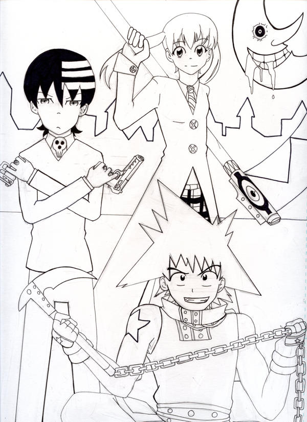 Soul Eater Trio by ChihayatheBlackAngel