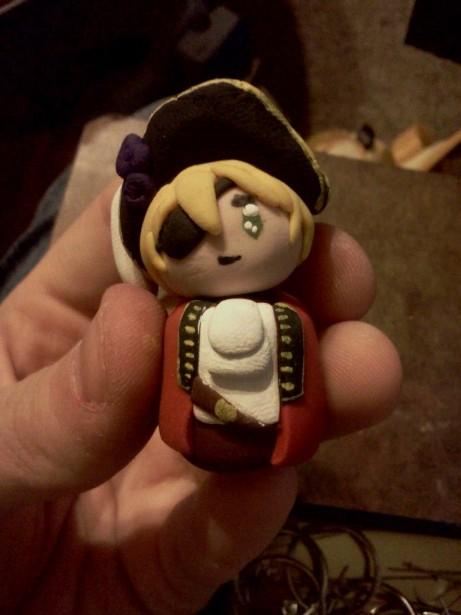 Pirate England Keychain by ChihayatheBlackAngel