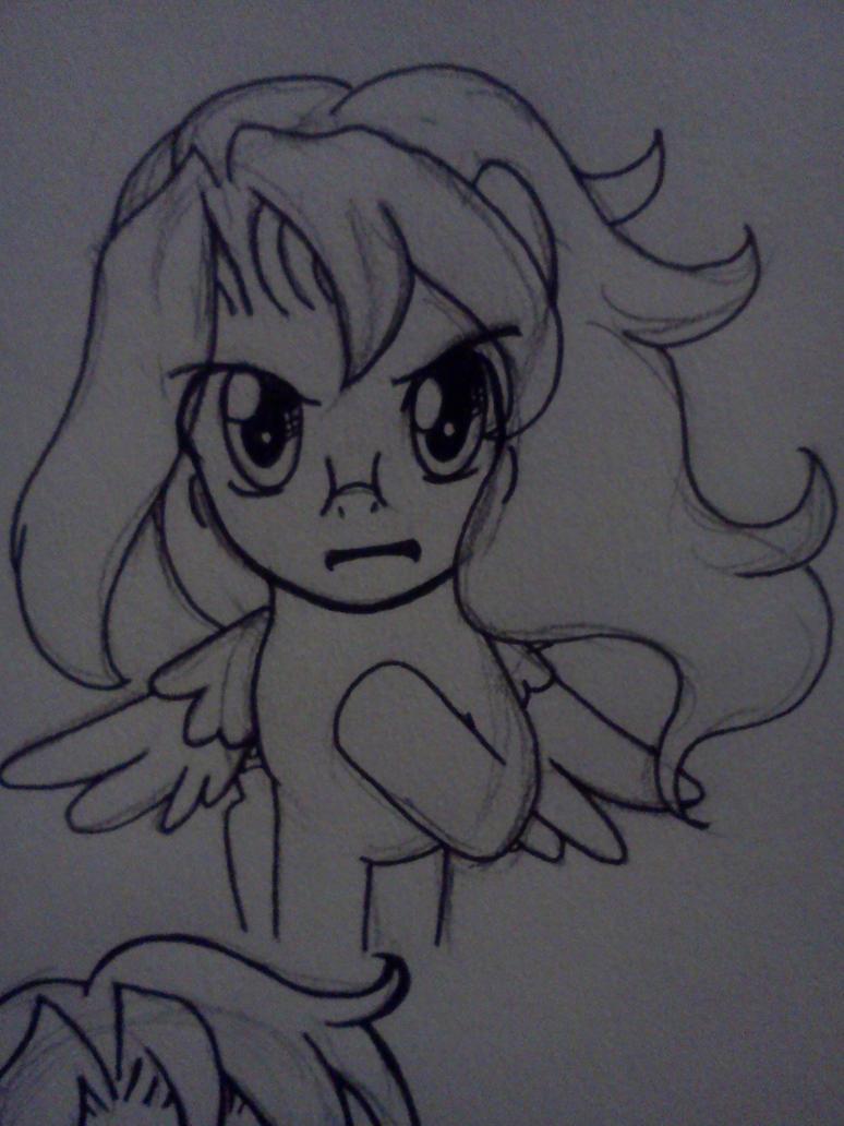 Determined Sketch by ChihayatheBlackAngel