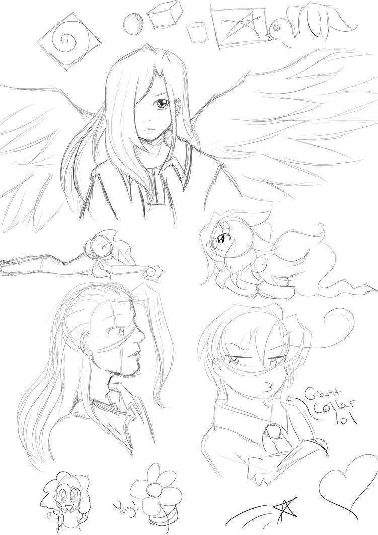 Shitty Digital doodles by ChihayatheBlackAngel