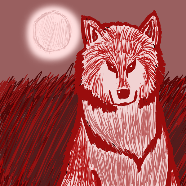 red wolf drawing by misterdevils on deviantart