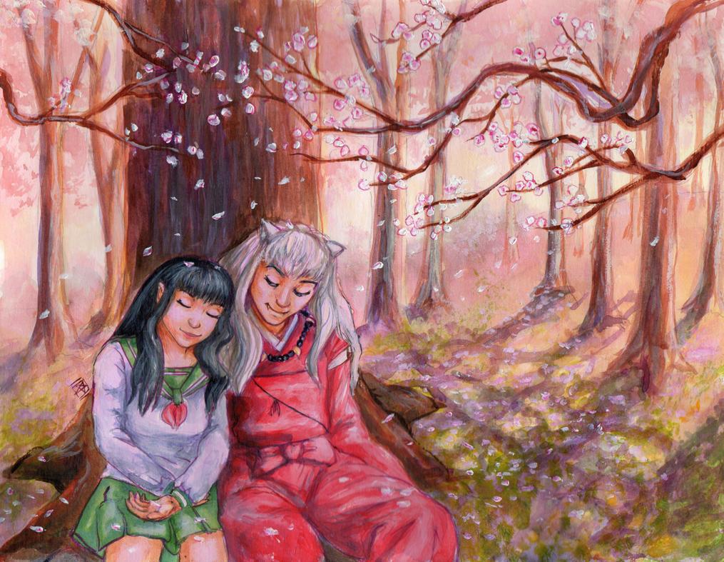 Inuyasha and Kagome by starwilliams