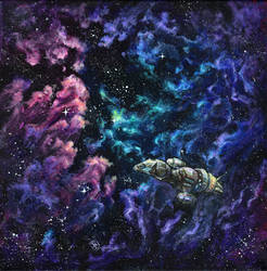 Serenity with colorful nebulas by starwilliams