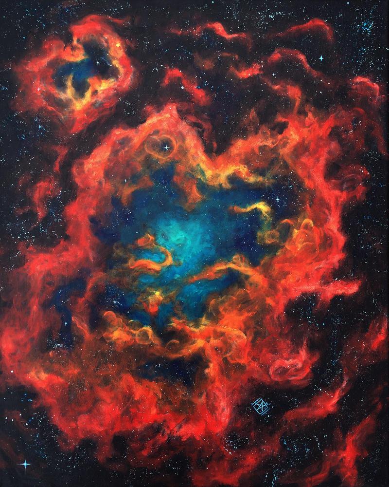 Red nebula number 1 by starwilliams