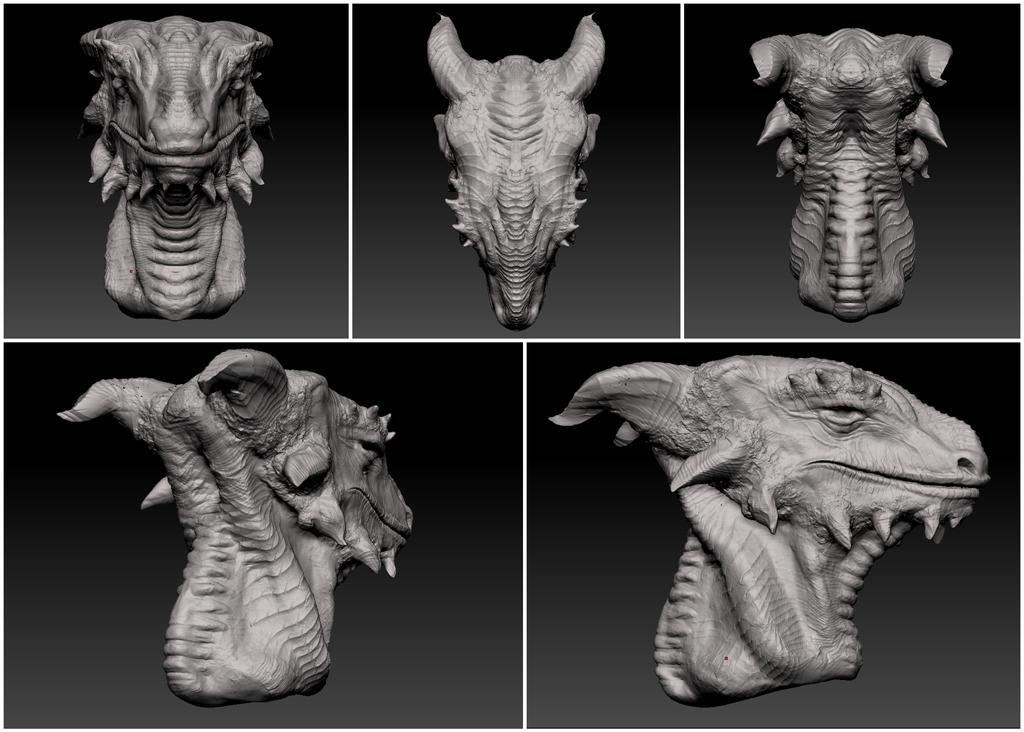 Dragon Bust by JaciJaci