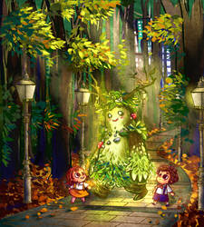 Genny and Urby meets the Guardian of Nature