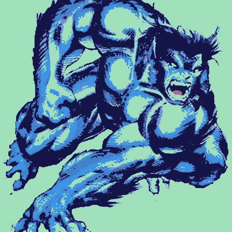 X-Men-Tier pop-art. du...