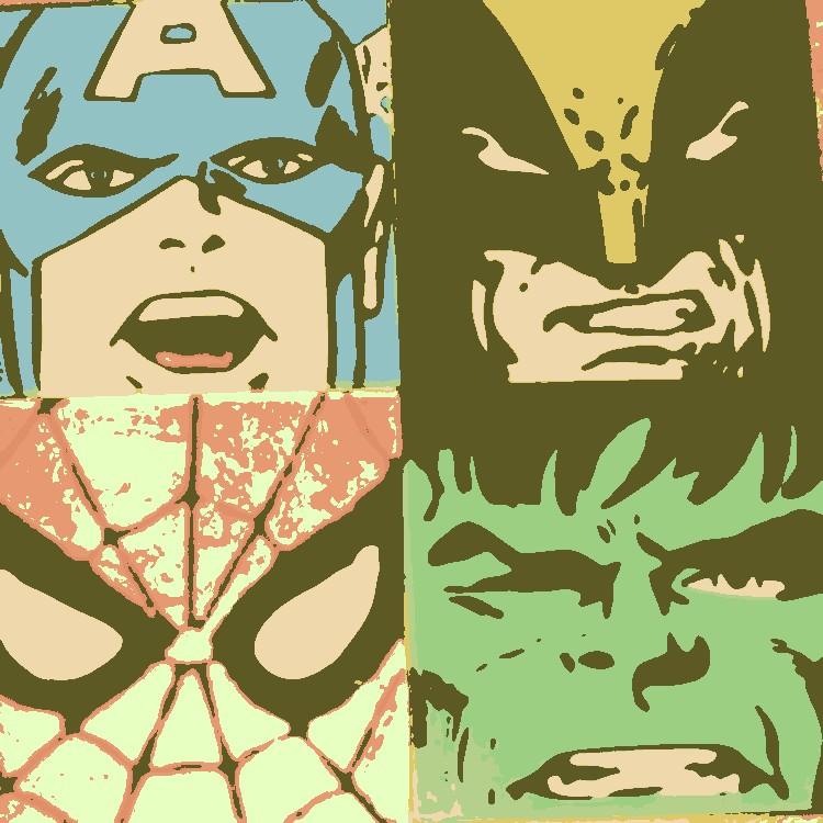 Marvel Comic\'s pop art 2 by DevintheCool on DeviantArt