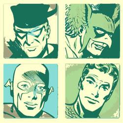 Retro Justice League pop art by DevintheCool