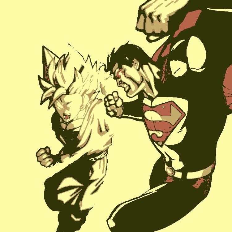 Goku vs Superman by DevintheCool on DeviantArt