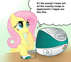 Fluttershy this is what AppleJack calls music? by DevintheCool