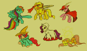 My Little Pony Final Fantasy by DevintheCool