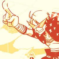 Gurren Lagann X Axis Powers Hetalia by DevintheCool