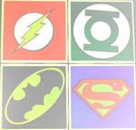 The Flash,Green Lantern,Batman,and Superman