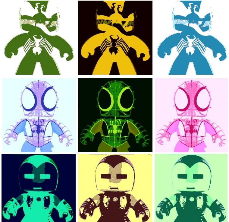 Venom,Spider-Man, and Iron Man Pop Art by DevintheCool