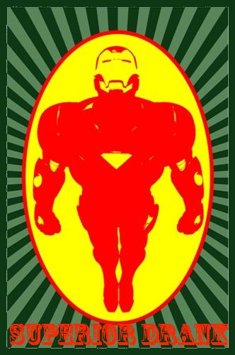 Iron Man Superior Drank Pop Art by DevintheCool