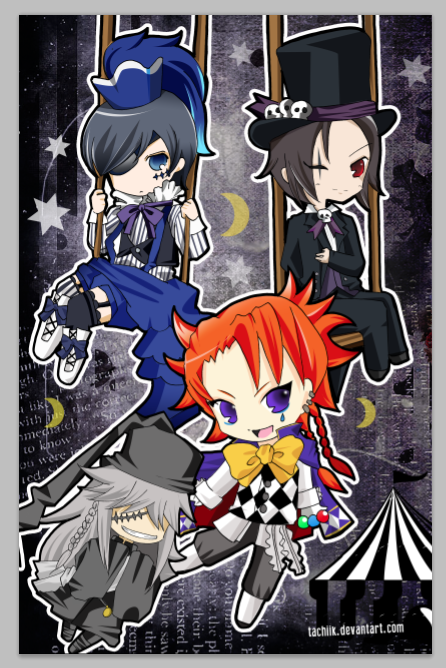 Black Butler Circus By Tachiik
