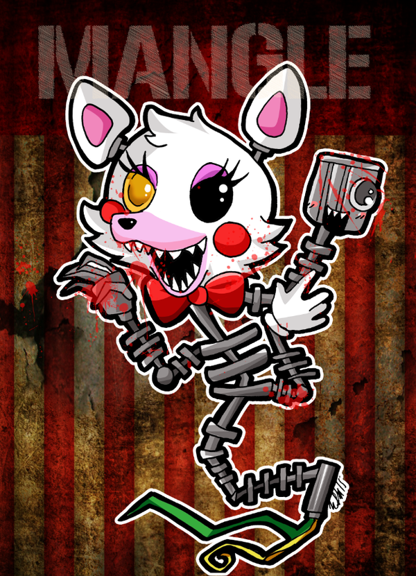 Five nights at Freddy Mangle by tachiik