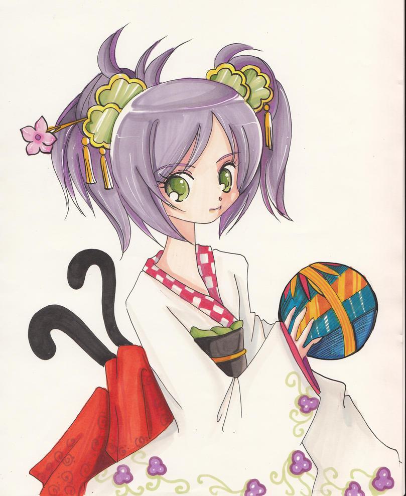 Kimono kitty by tachiik