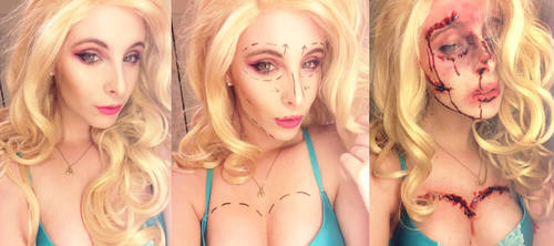 PRE AND POST SURGERY BARBIE SFX by BlondieeGaming