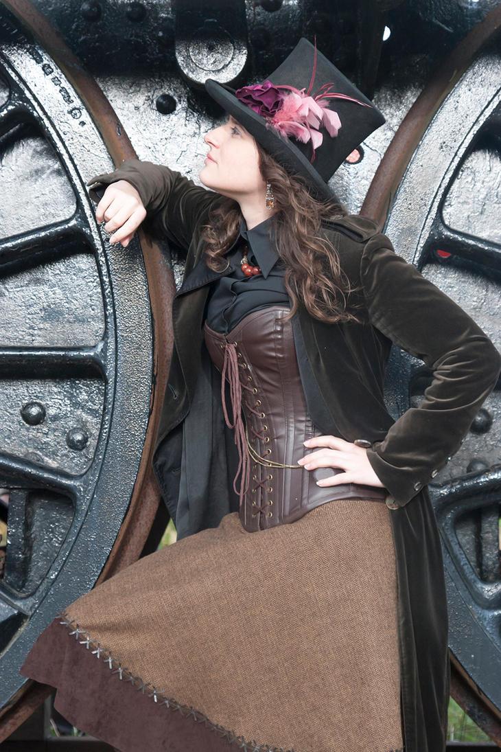 Steampunk girl-2 by despairlegion