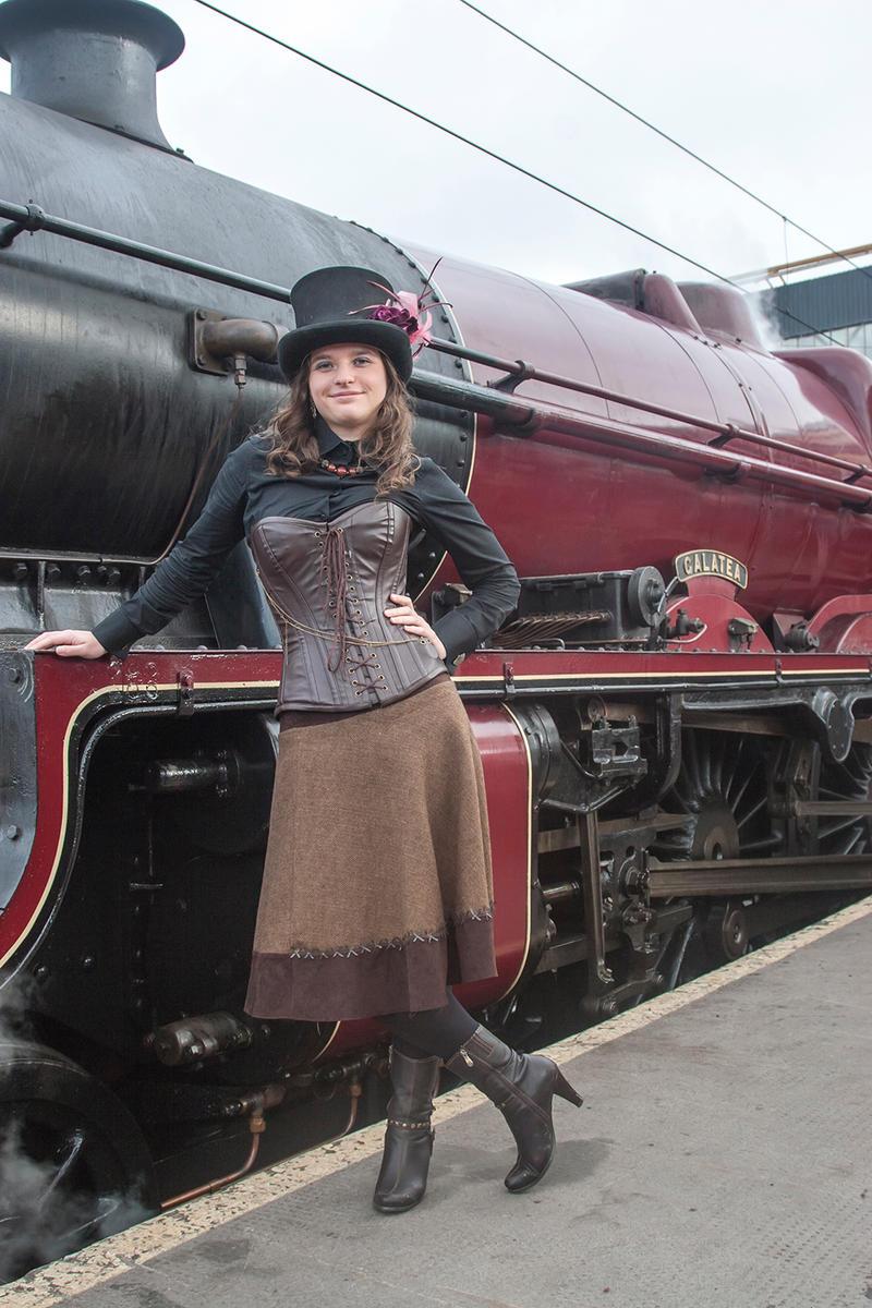 Steampunk girl-3 by despairlegion
