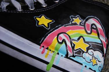 RainbowStars...Chucks by Same-One