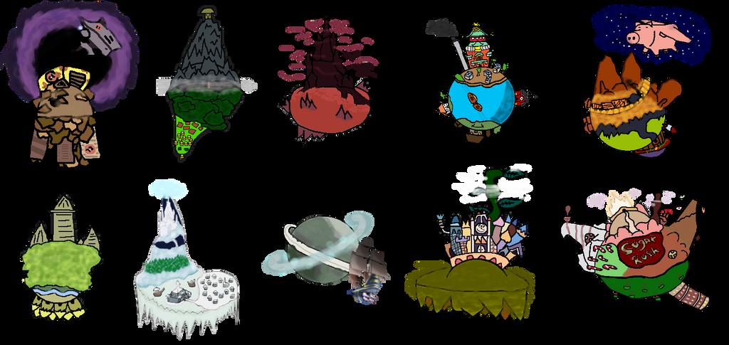 Some Custom KH Worlds by DarKingdomHearts