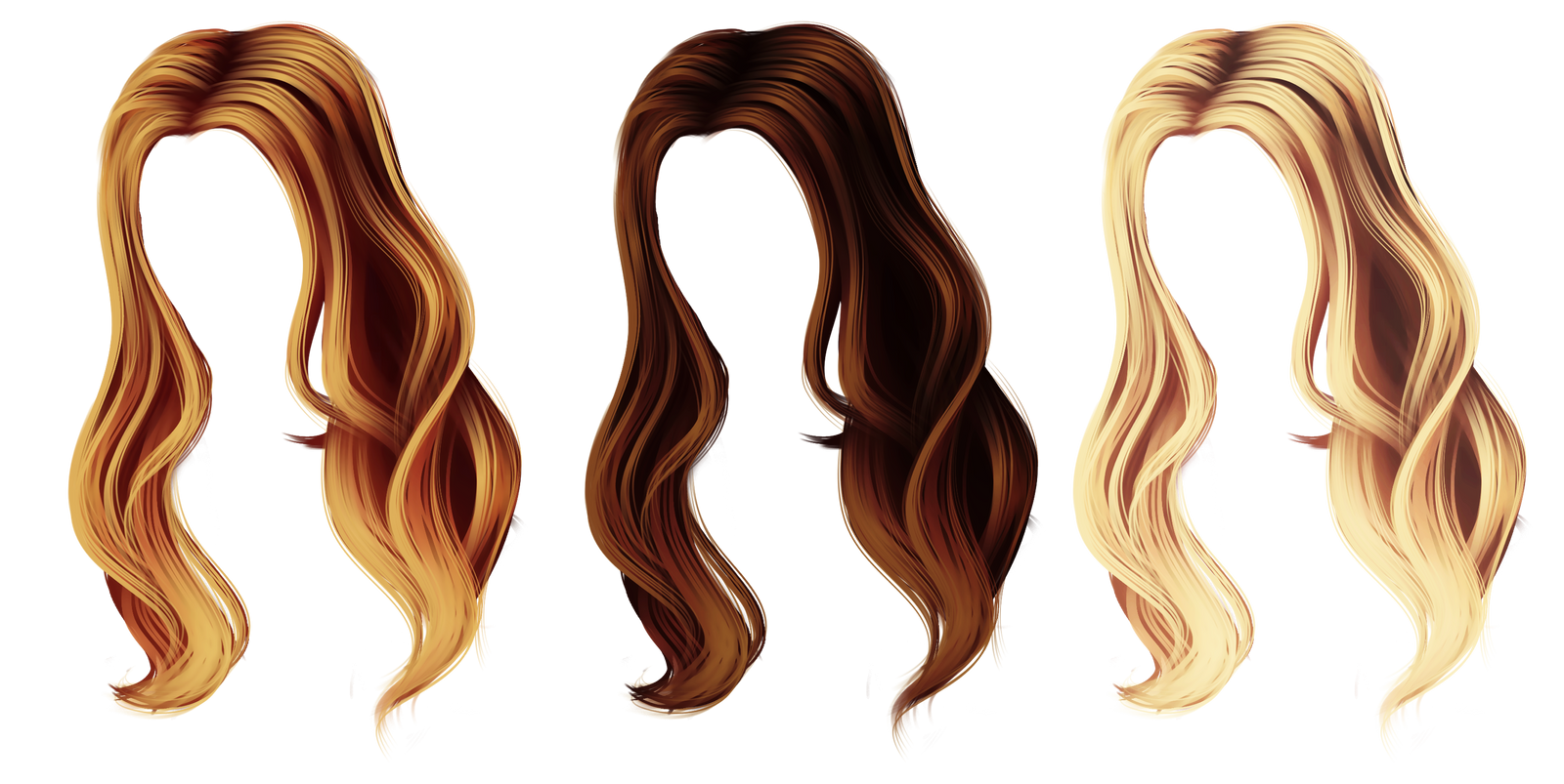 Long Blonde Hair Designs