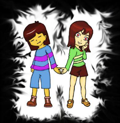 Frisk and Chara by Cherrilily16