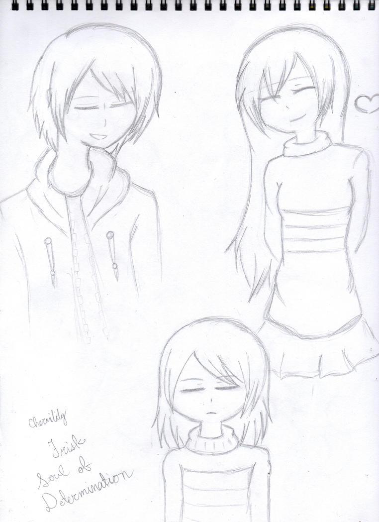 Frisk Sketch by Cherrilily16