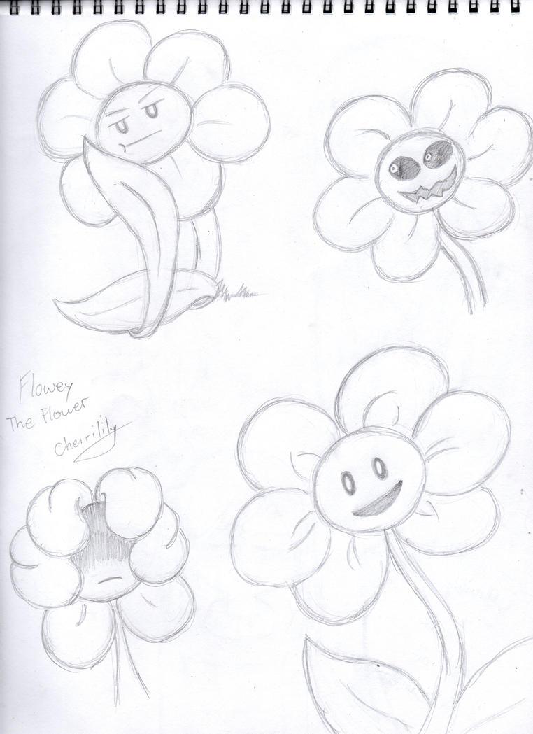 Flowey Sketches by Cherrilily16