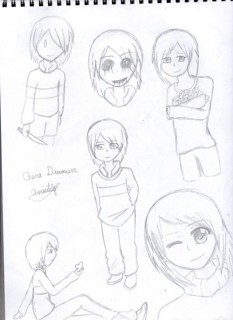 Chara Sketches by Cherrilily16