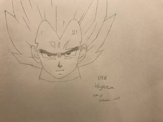 Dragon ball Z Vegeta(sketch) by superalexapple