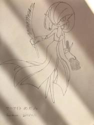 Pokemon Gardevoir Virgo constellation(sketch) by superalexapple