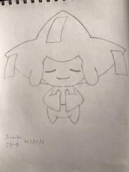 Pokemon Jirachi (sketch) by superalexapple