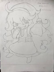 Pokemon trainer hex maniac (sketch) by superalexapple