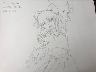 Touhou project Reimu hakurei (sketch) by superalexapple