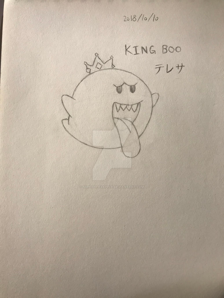 Super Mario King Boo (practise) by superalexapple