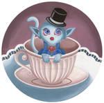 Elegant creature in a teacup