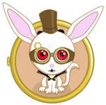 Steampunk vampire bunny